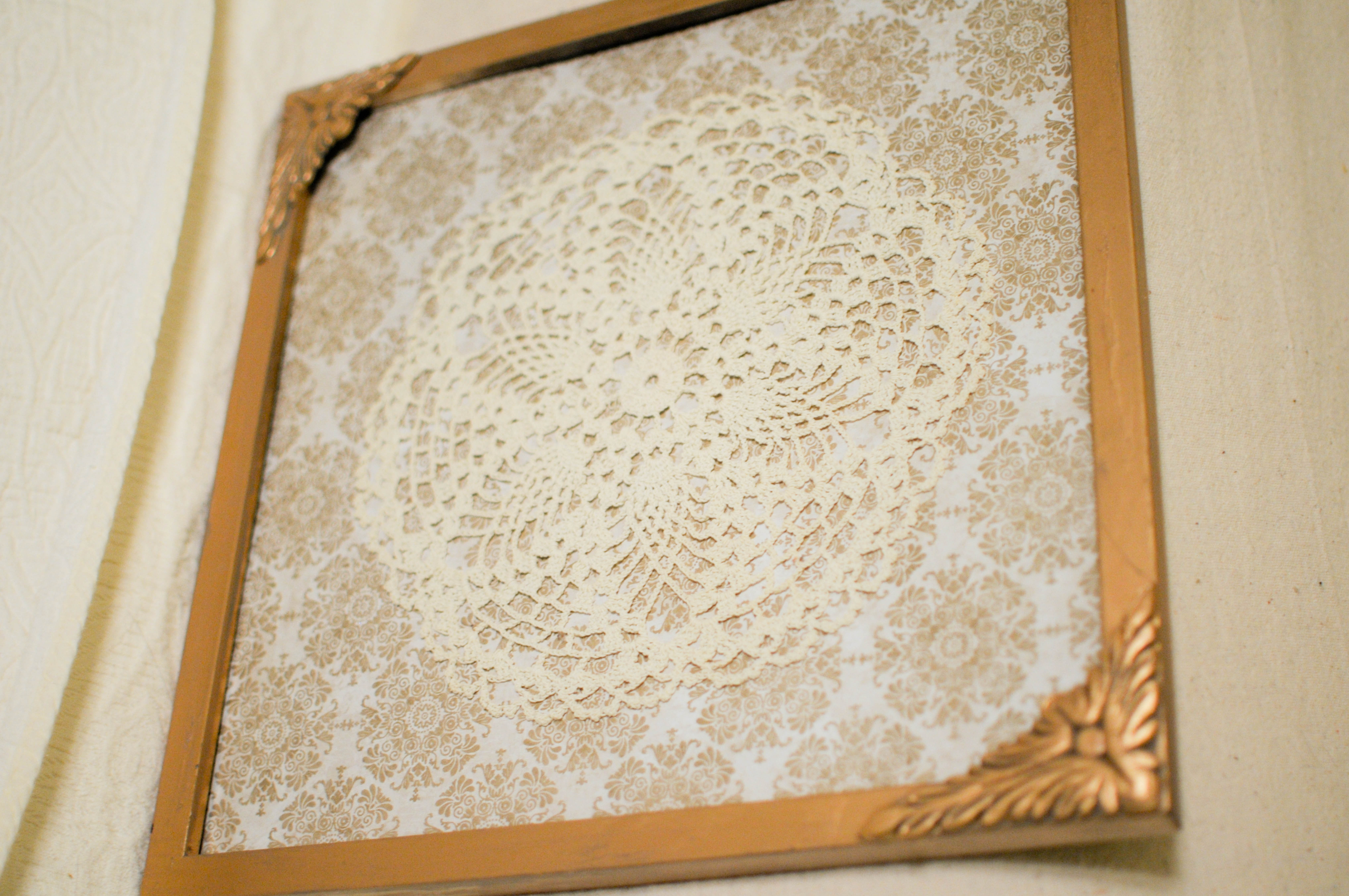 How to put scrapbook paper on wood - Posted